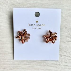 Kate Spade Bourgeois Bow Stud Rose Gold Earrings